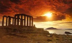 Cape Sounion in Attica, Greece