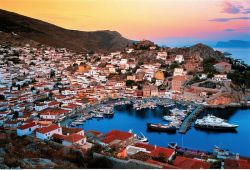 The island of Hydra in Saronic Gulf