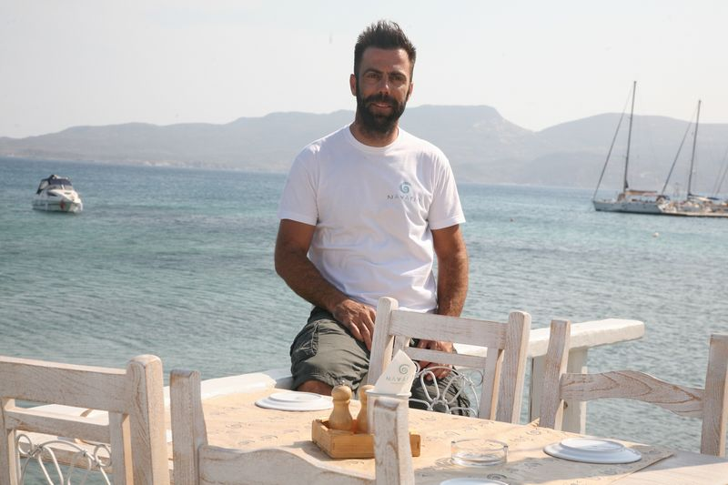 Manolis Karamitsos, Owner of Navagio Restaurant in Milos