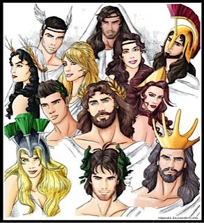 Greek Pantheon, Dodekatheon, Twelve, Olympians, Zeus, Jupiter