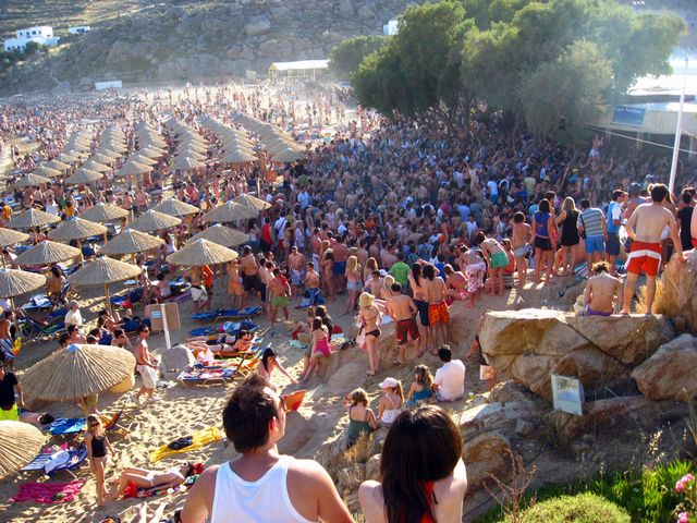 Best Island Beaches For Partying Mykonos St Barts: Super Paradise Mykonos